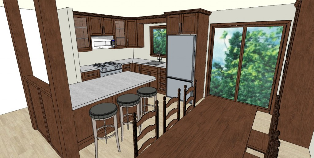 Custom Kitchen Three Dimensional Rendering