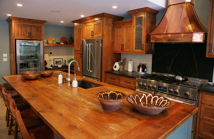 Bruce county custom cabinets copper pine custom for Bruce kitchen cabinets