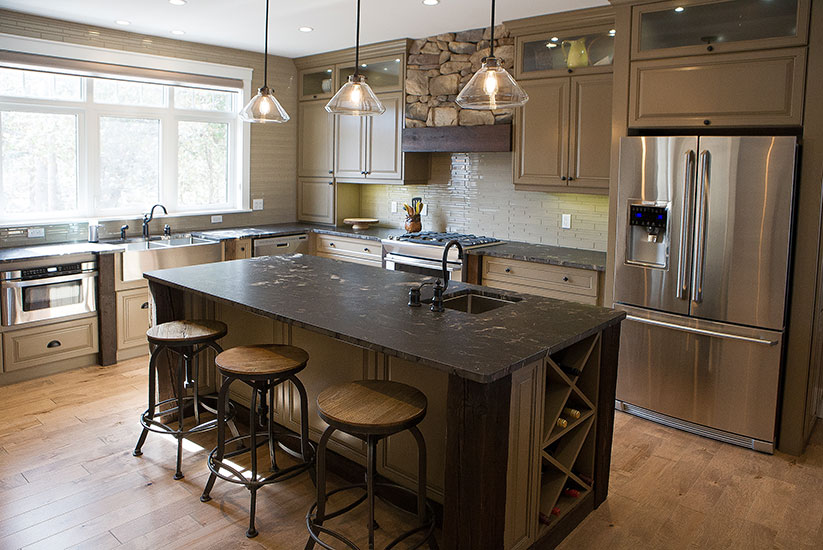 custom kitchen u2013 classic meets rustic