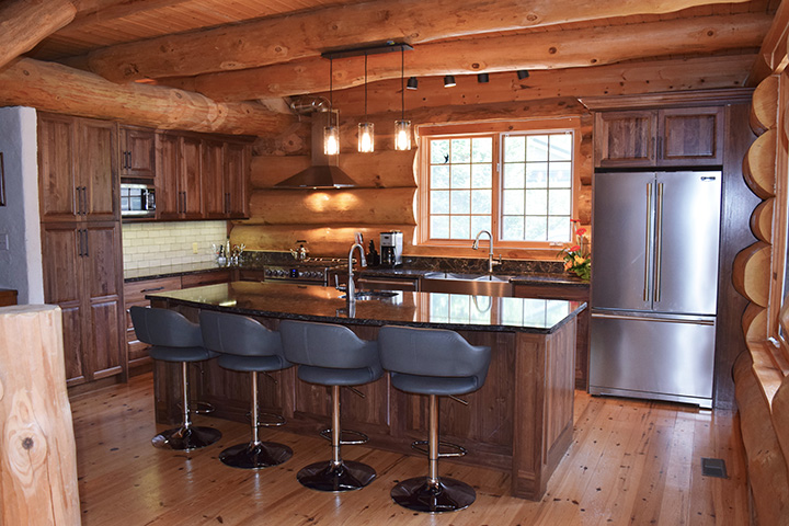 Bruce county custom cabinets natural walnut custom kitchen for Bruce kitchen cabinets
